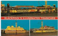 BLACKPOOL's Illuminated Tramcars Unposted 1970s (Bamforth)